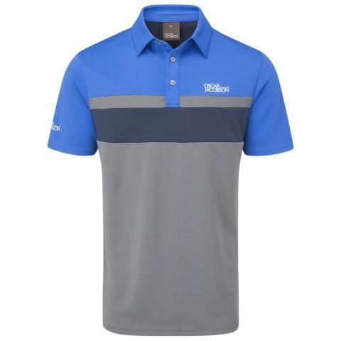 Oscar Jacobson Boston Polo Shirt Pewter/Royal