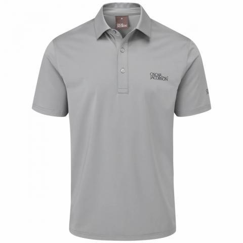 Oscar Jacobson Chap Tour Polo Shirt Pewter