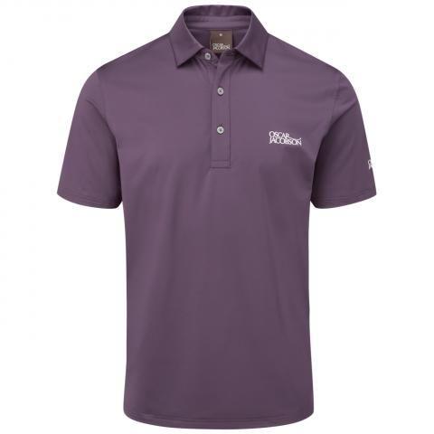 Oscar Jacobson Chap Tour Polo Shirt Plum