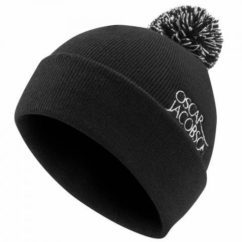 Oscar Jacobson Knitted Bobble Hat II Black