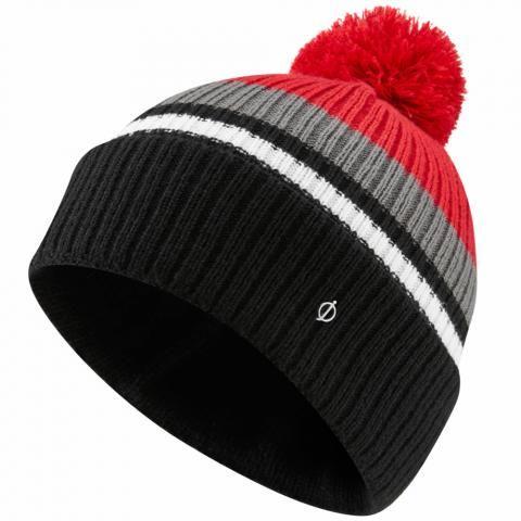 Oscar Jacobson Mason Winter Bobble Hat Black/Red