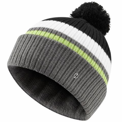 Oscar Jacobson Mason Winter Bobble Hat Pewter/Black