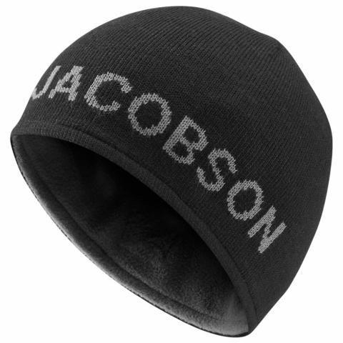 Oscar Jacobson Mount Reversible Winter Beanie Hat Black