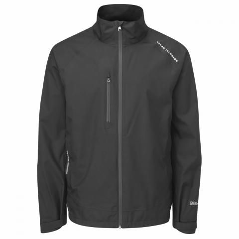Oscar Jacobson Preston Waterproof Golf Jacket Black