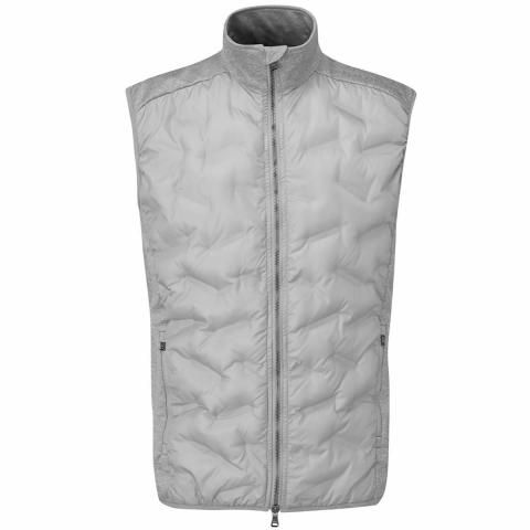 Oscar Jacobson Ridley Hybrid Gilet Light Grey