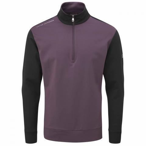 Oscar Jacobson Taylor Zip Neck Sweater