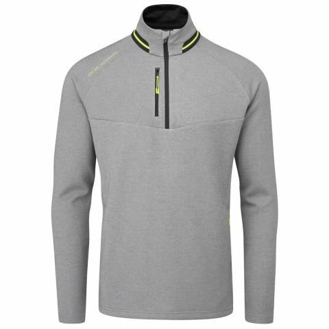 Oscar Jacobson Thomson Zip Neck Sweater Dark Grey