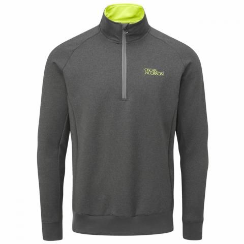 Oscar Jacobson Trent Tour Zip Neck Sweater Pewter