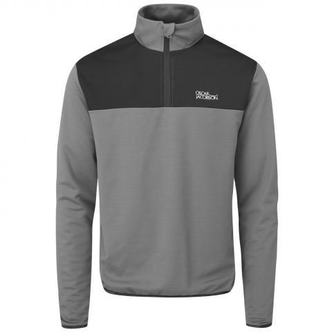 Oscar Jacobson Wainwright Lined Zip Neck Sweater