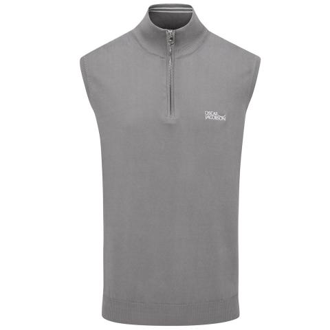 Oscar Jacobson Bob Tour Sleeveless Sweater Charcoal