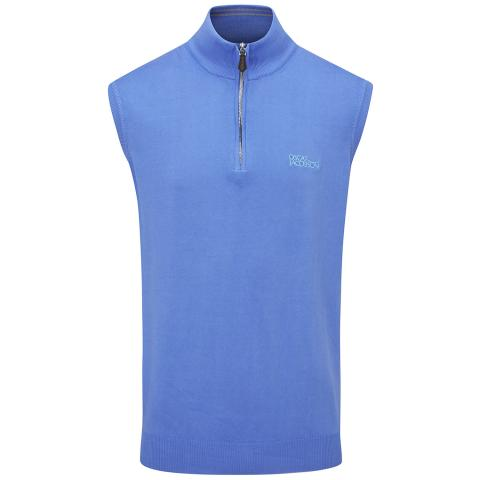 Oscar Jacobson Bob Tour Sleeveless Sweater Mid Blue