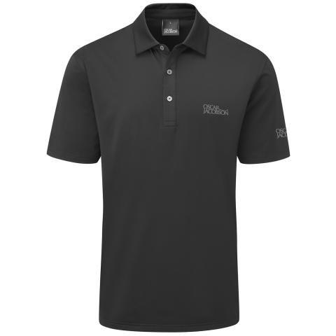 Oscar Jacobson Chap Tour Polo Shirt Black