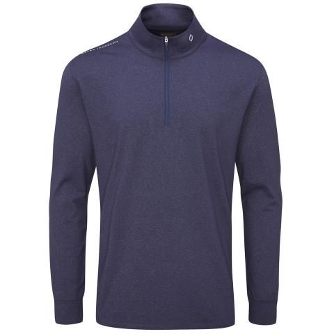 Oscar Jacobson Loke Zip Neck Sweater Navy