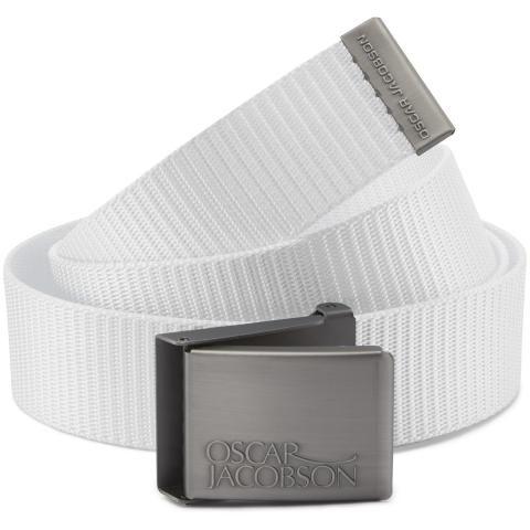 Oscar Jacobson Webbing Belt White