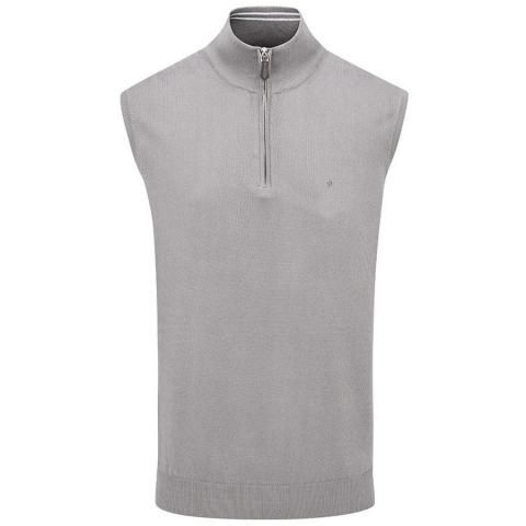 Oscar Jacobson Bob Pin Sleeveless Sweater Light Grey