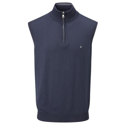 Oscar Jacobson Bob Pin Sleeveless Sweater Navy
