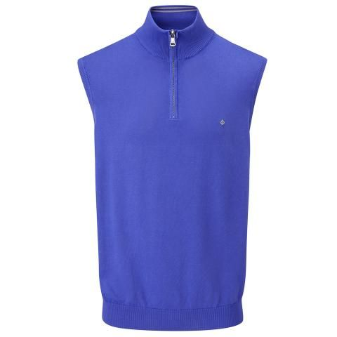 Oscar Jacobson Bob Pin Sleeveless Sweater Royal Blue