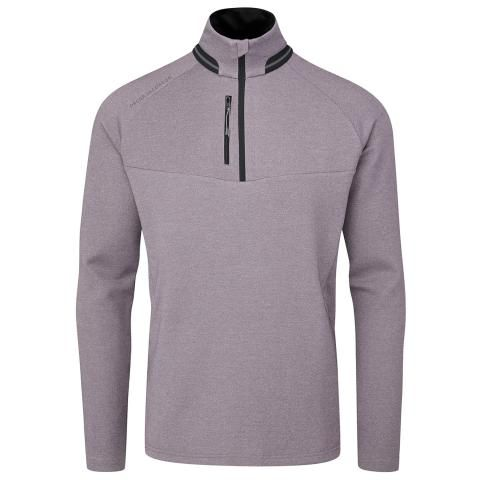 Oscar Jacobson Thomson Zip Neck Sweater Light Plum