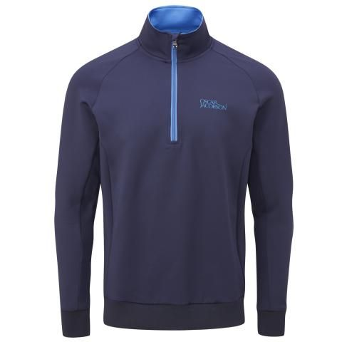 Oscar Jacobson Trent Tour Zip Neck Sweater Navy