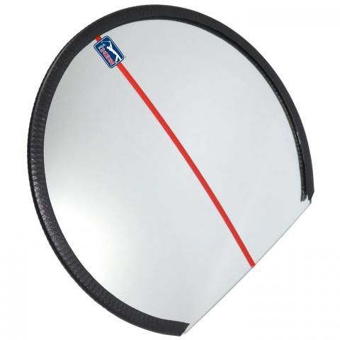 PGA Tour Round Golf Swing Mirror Visual Practice Aid with Free DVD