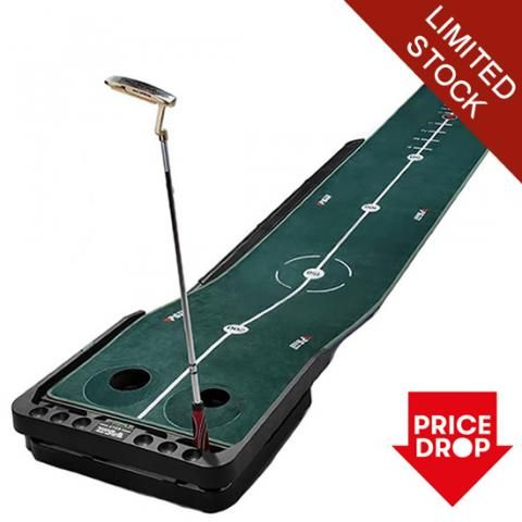 PGM Adjustable Slope Practice Putting Green 10 foot - Extra Long - Auto Ball Return