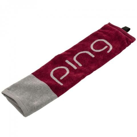Ping Ladies Tri-Fold Golf Towel Garnet/Black