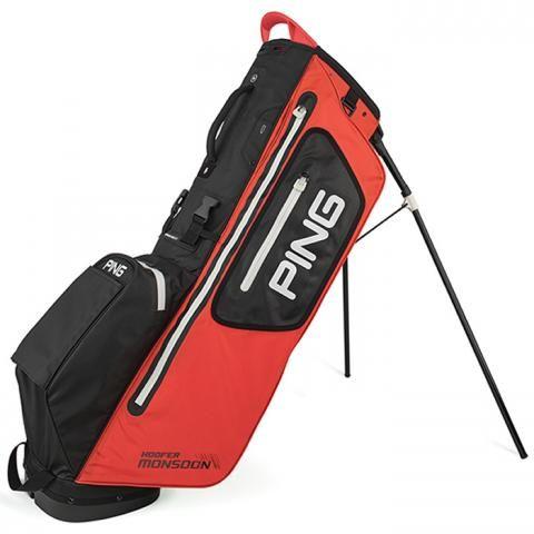 PING Hoofer Monsoon Waterproof Golf Stand Bag Scarlet/Black/White