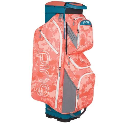Ping 2020 Traverse Ladies Golf Cart Bag Storm/Coral Bloom