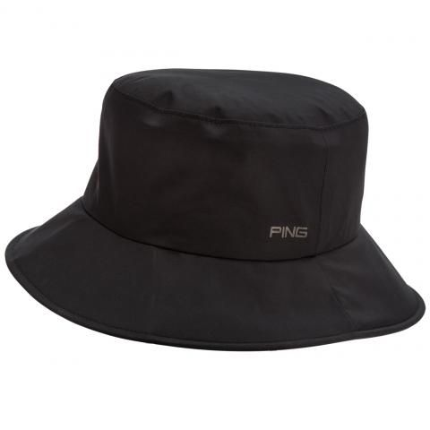 d8e0770bccac5 Ping Waterproof Golf Bucket Hat Black