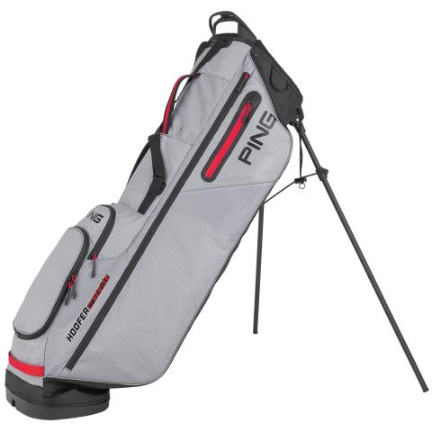 PING Hoofer Craz-E-Lite Golf Stand Bag Grey/Black/Scarlet