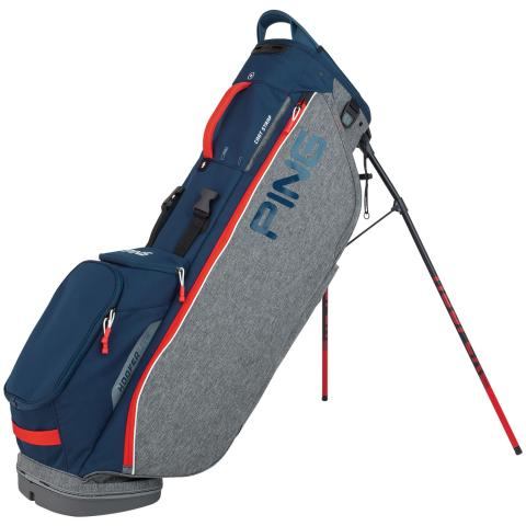 Ping 2020 Hoofer Lite Golf Stand Bag Heather Grey/Navy/Scarlet