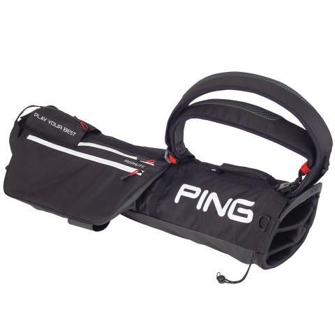 PING Moonlite Golf Pencil Bag Black/Scarlet