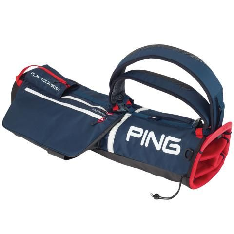 PING Moonlite Golf Pencil Bag Navy/White/Scarlet