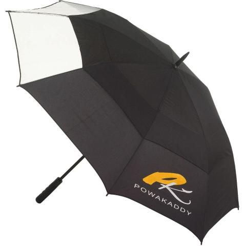 PowaKaddy Clearview Gustbuster Golf Umbrella Black/Clear