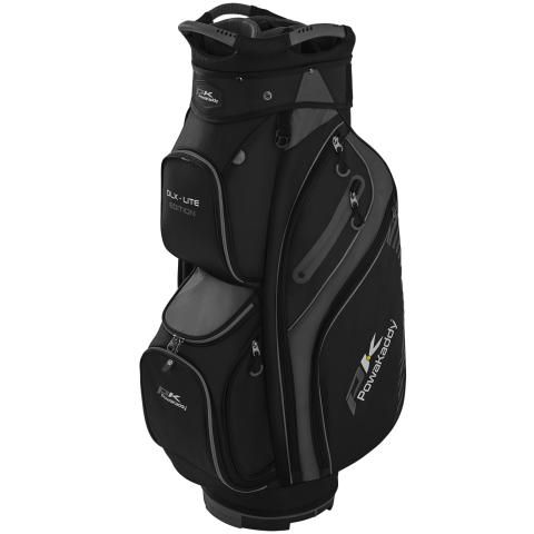 PowaKaddy 2020 DLX-Lite Edition Golf Cart Bag Black/Titanium/Silver