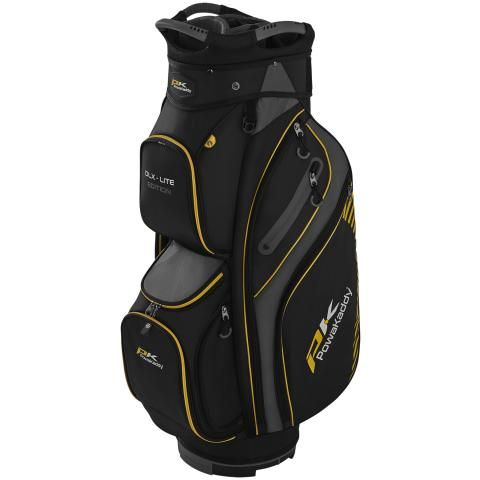 PowaKaddy 2020 DLX-Lite Edition Golf Cart Bag Black/Titanium/Yellow