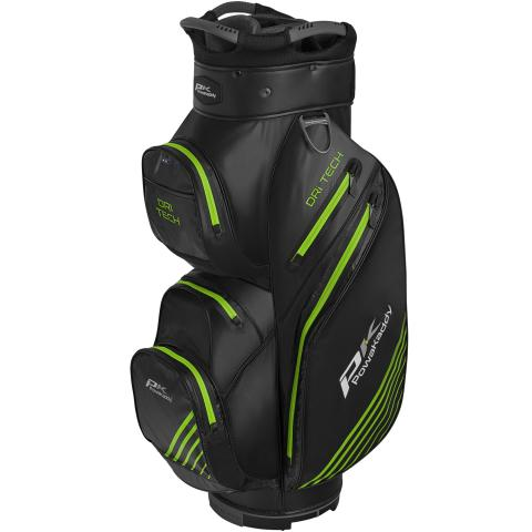 PowaKaddy 2020 Dri-Tech Golf Cart Bag Black/Gun Metal/Lime