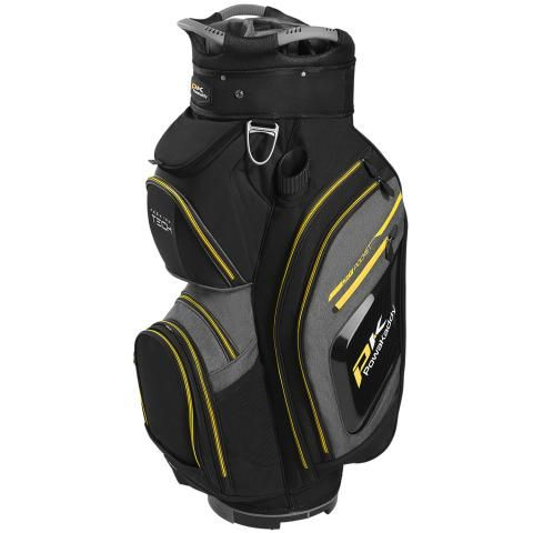 PowaKaddy 2020 Premium Tech Golf Cart Bag Black/Heather Black/Yellow