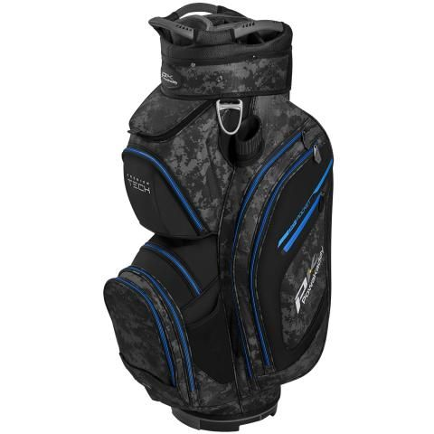 PowaKaddy 2020 Premium Tech Golf Cart Bag Grey Camo/Black/Blue