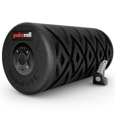 Pulseroll Classic Vibrating Foam Roller Black 4 vibration levels, 3 hour battery life, remote control