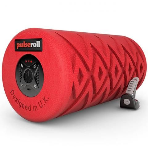 Pulseroll Classic Vibrating Foam Roller Red 4 vibration levels, 3 hour battery life, remote control