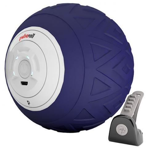 Pulseroll Vibrating Single Massage Ball Purple 4 vibration levels, 3 hour battery life, remote control