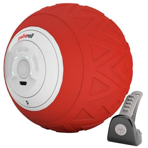 Pulseroll Vibrating Single Massage Ball Red 4 vibration levels, 3 hour battery life, remote control