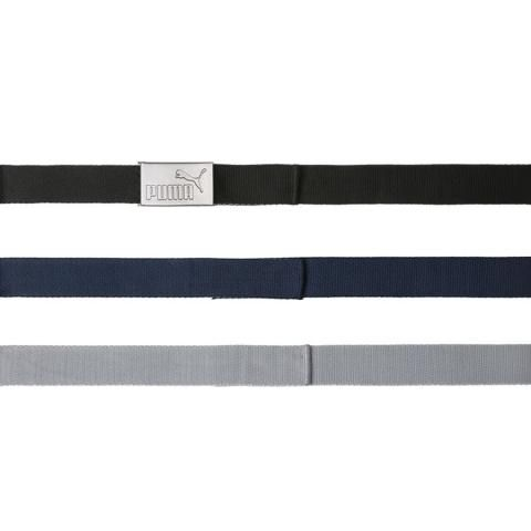 PUMA 6 in 1 Webbing Belt Black/Grey/Navy