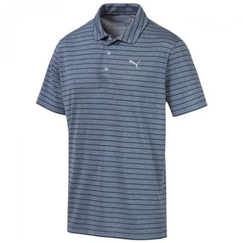 Puma Rotation Stripe Polo Shirt Gibraltar Sea