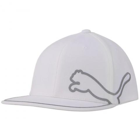 Puma Monoline 110 Snapback Baseball Cap Bright White