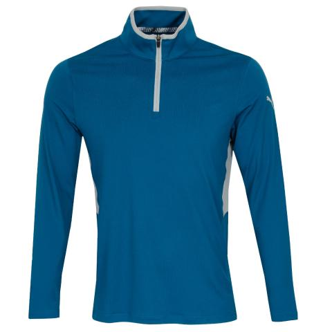 Puma Golf Rotation Zip Neck Sweater Digi Blue