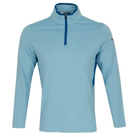 Puma Golf Rotation Zip Neck Sweater Milky Blue