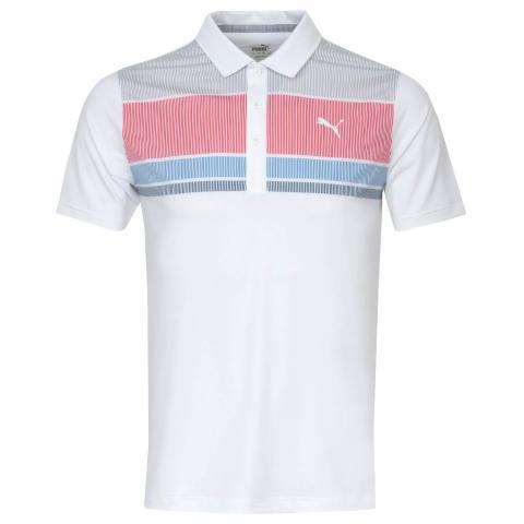 Puma Golf Road Map Polo Shirt Barbados Cherry/Ibiza Blue