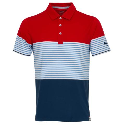 Puma Cloudspun Taylor Polo Shirt Barbados Red